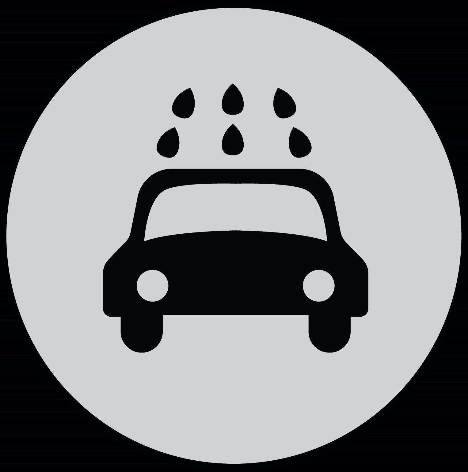 Car Wash Circle Graphic