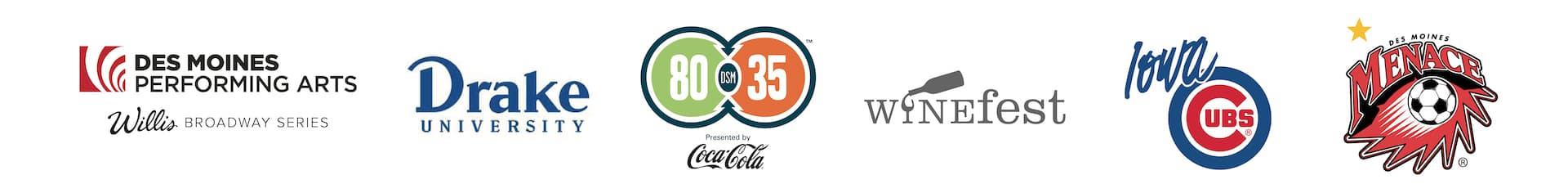 Sponsorship Logos - One Line