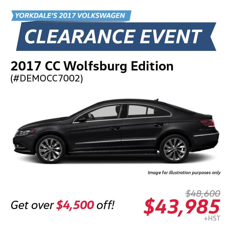 2017 Clearance Event: CC Wolfsburg Edition