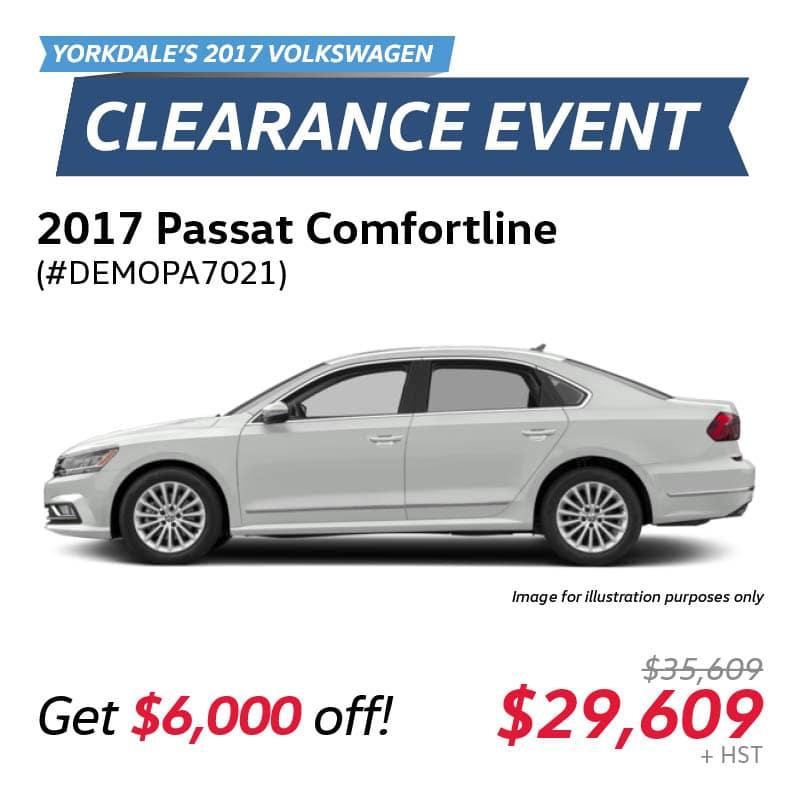 2017 Clearance Event: Passat Comfortline