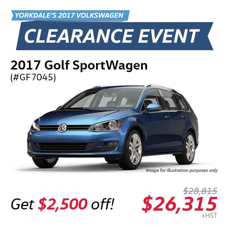 2017 Clearance Event: Golf SportWagen