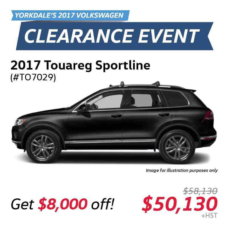 2017 Clearance Event: Touareg Sportline