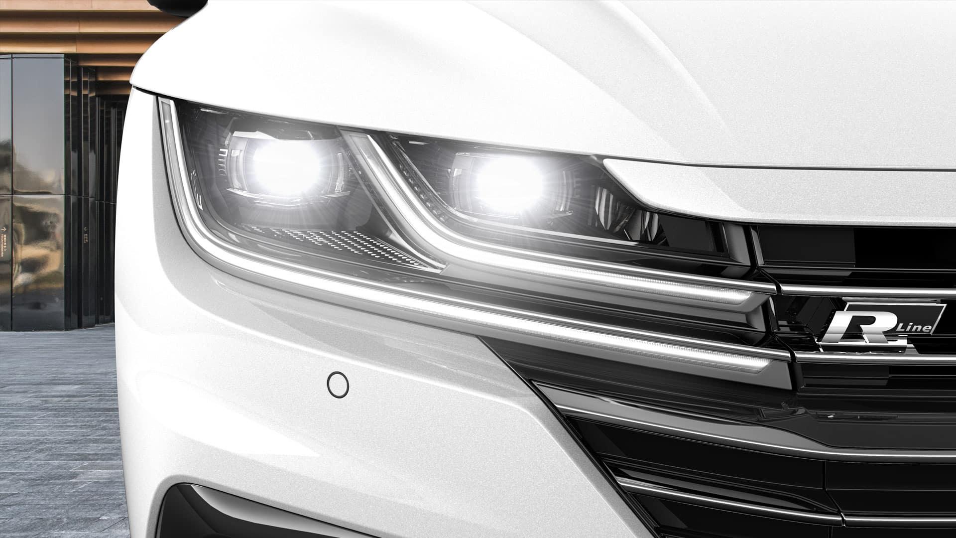 White Arteon headlights