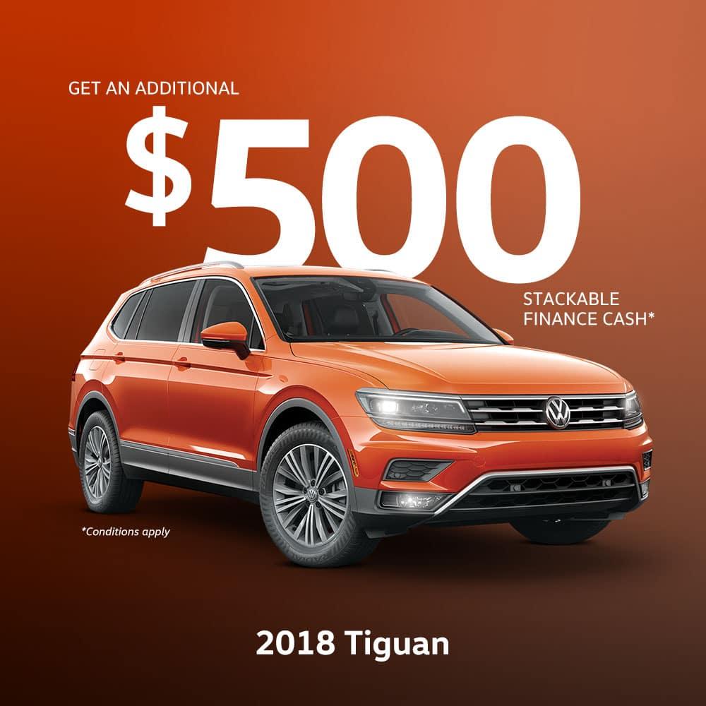 2018 Tiguan Incentive