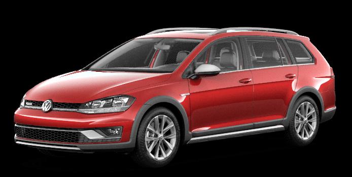 Red 2019 VW Golf Alltrack