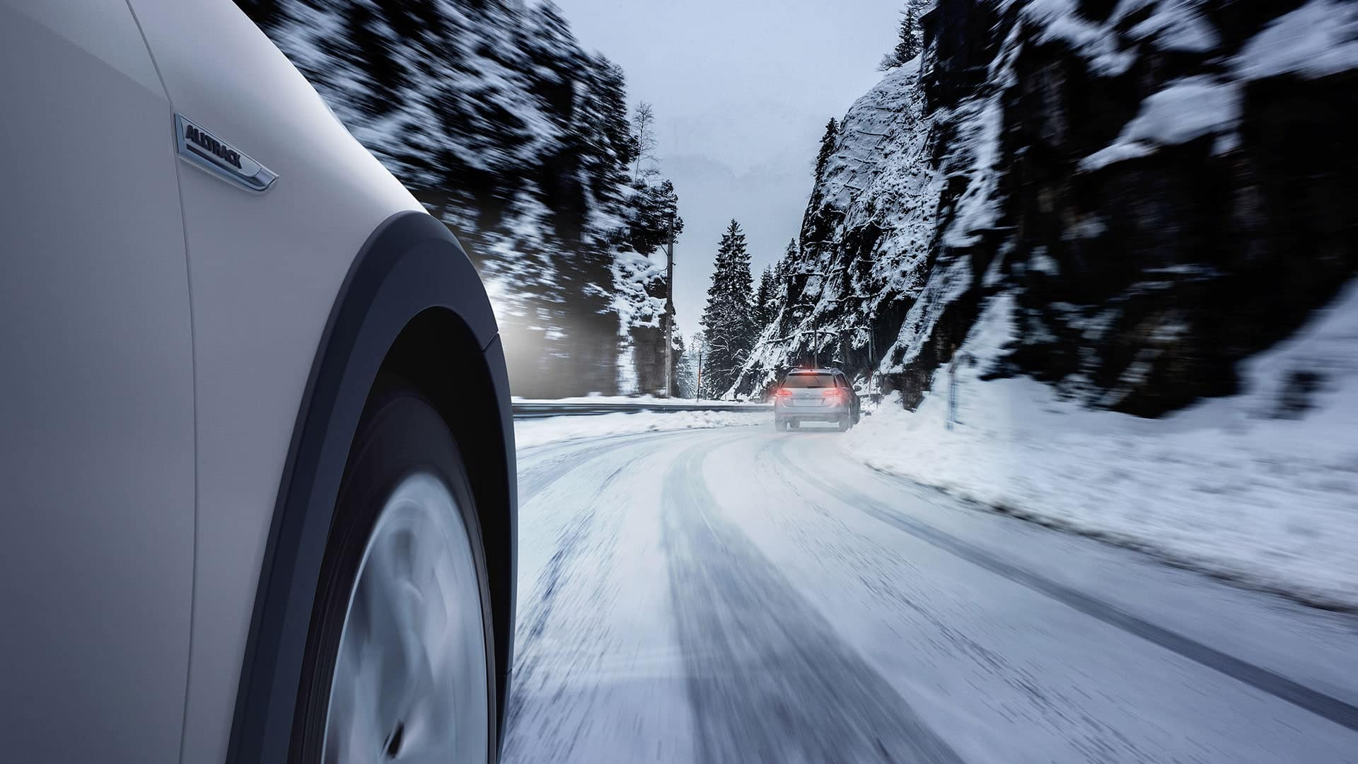 2019 VW Golf Alltrack handling icy roads with ease