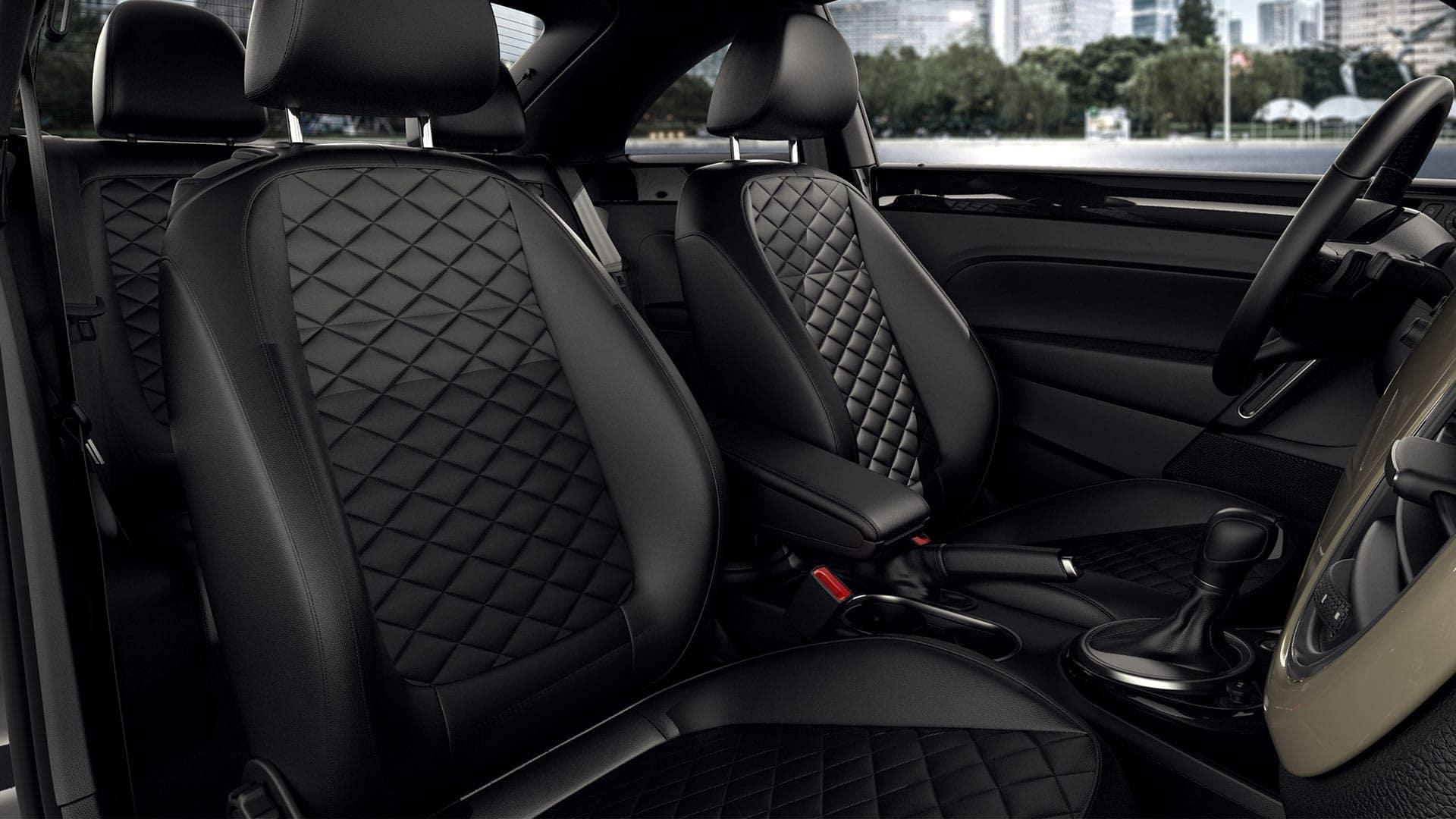 2019 VW Beetle diamond seats