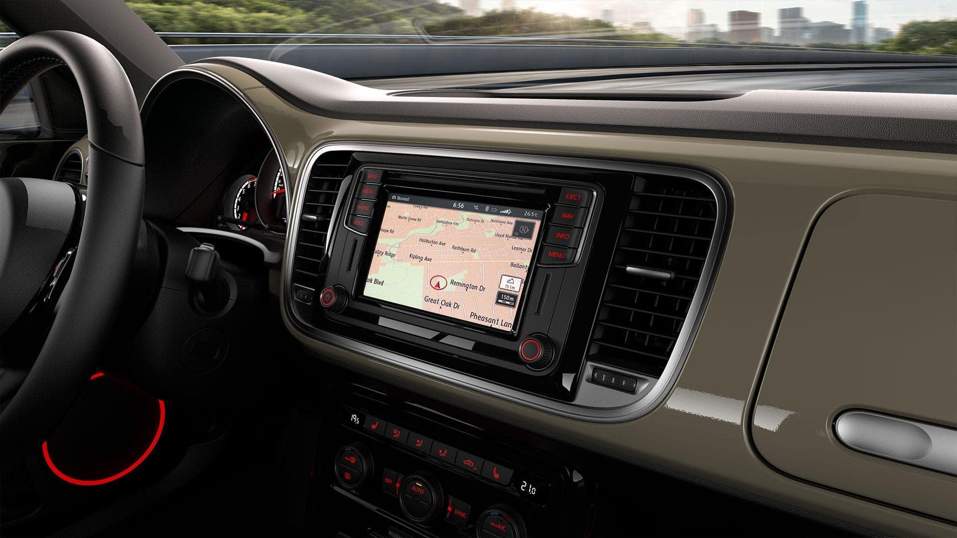 2019 VW Beetle navigation