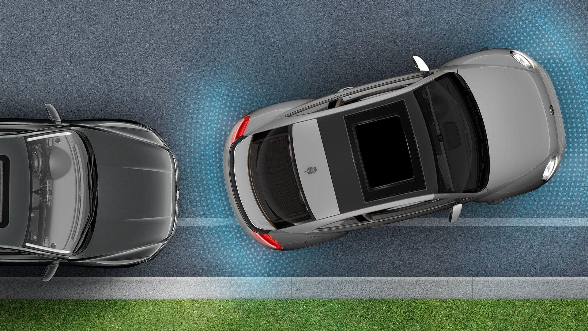 2019 VW Beetle park distance control infographic