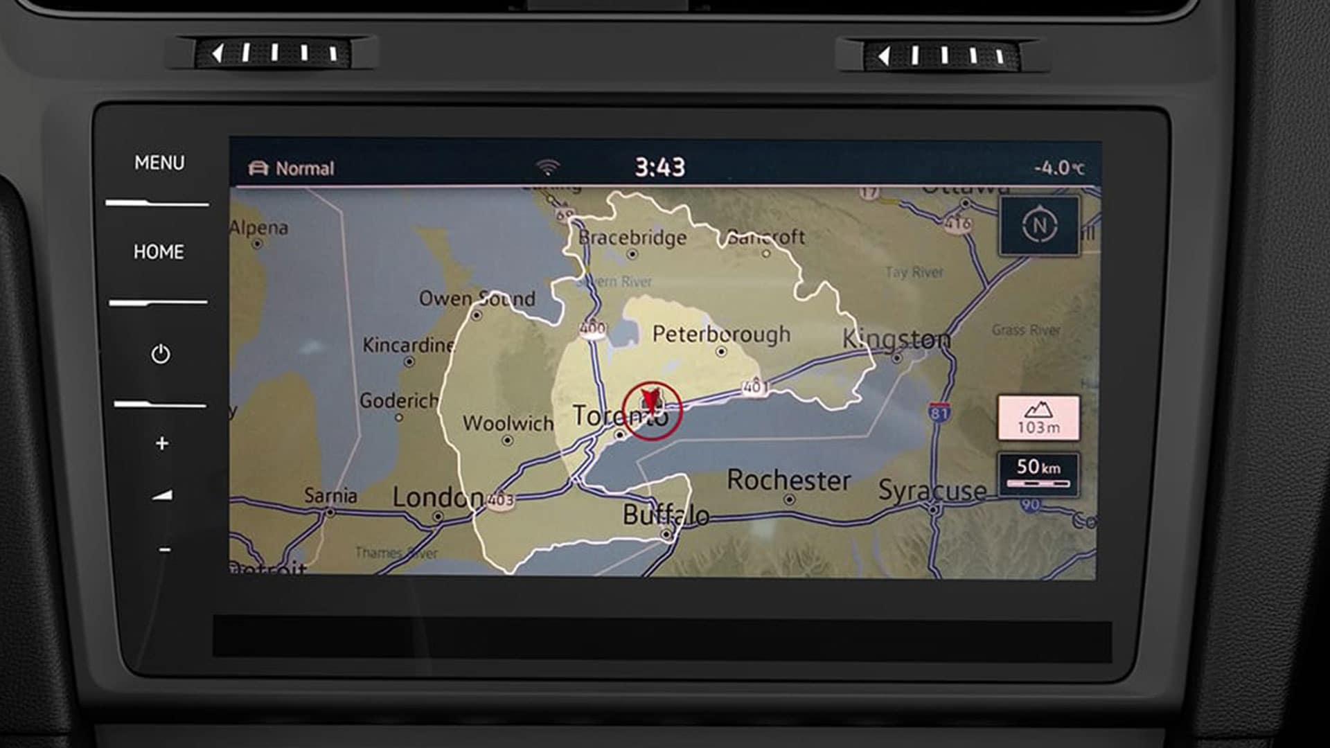 2019 VW e-Golf range dashboard