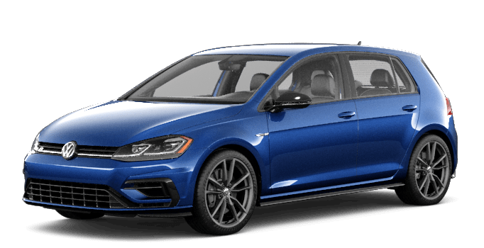 Blue 2019 VW Golf R