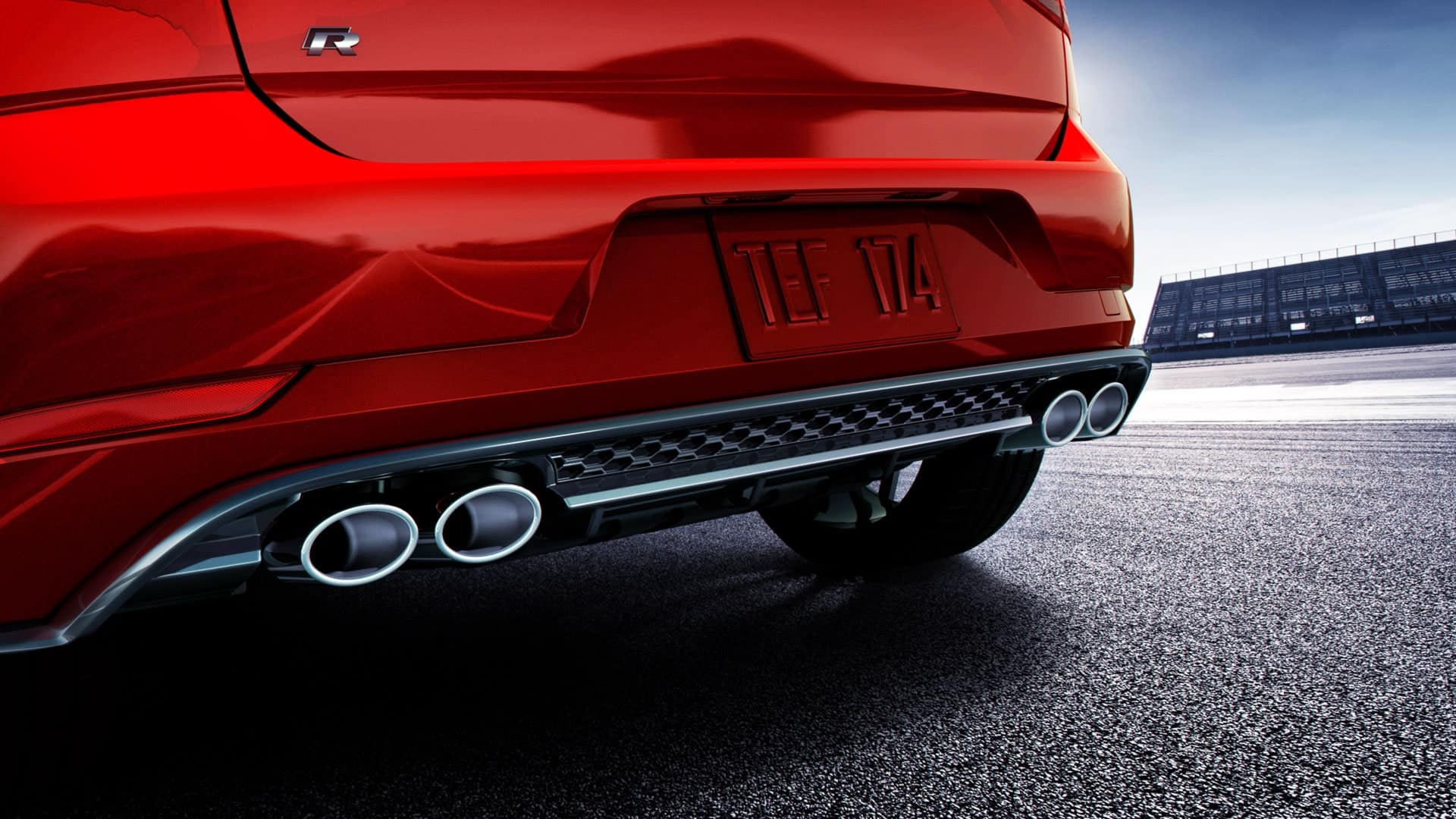 2019 VW Golf R dual exhaust