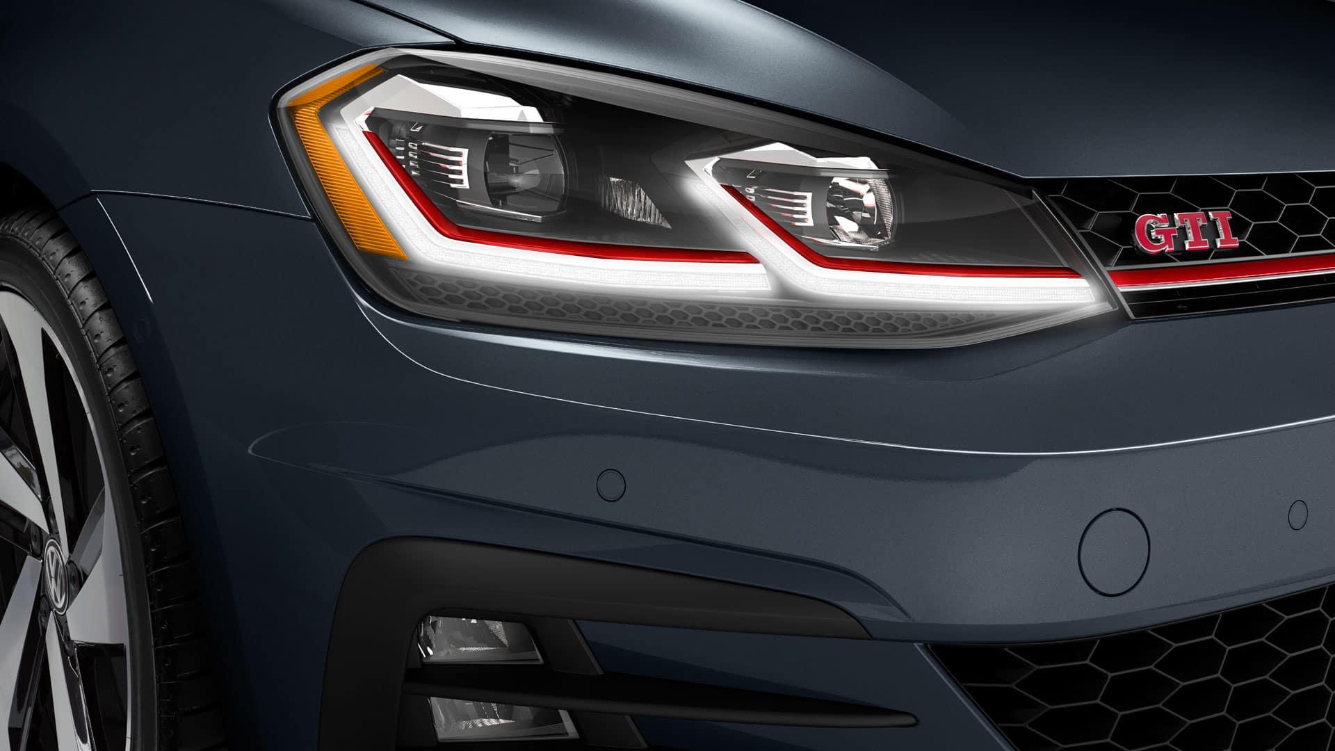 2019 VW Golf GTI LED headlights