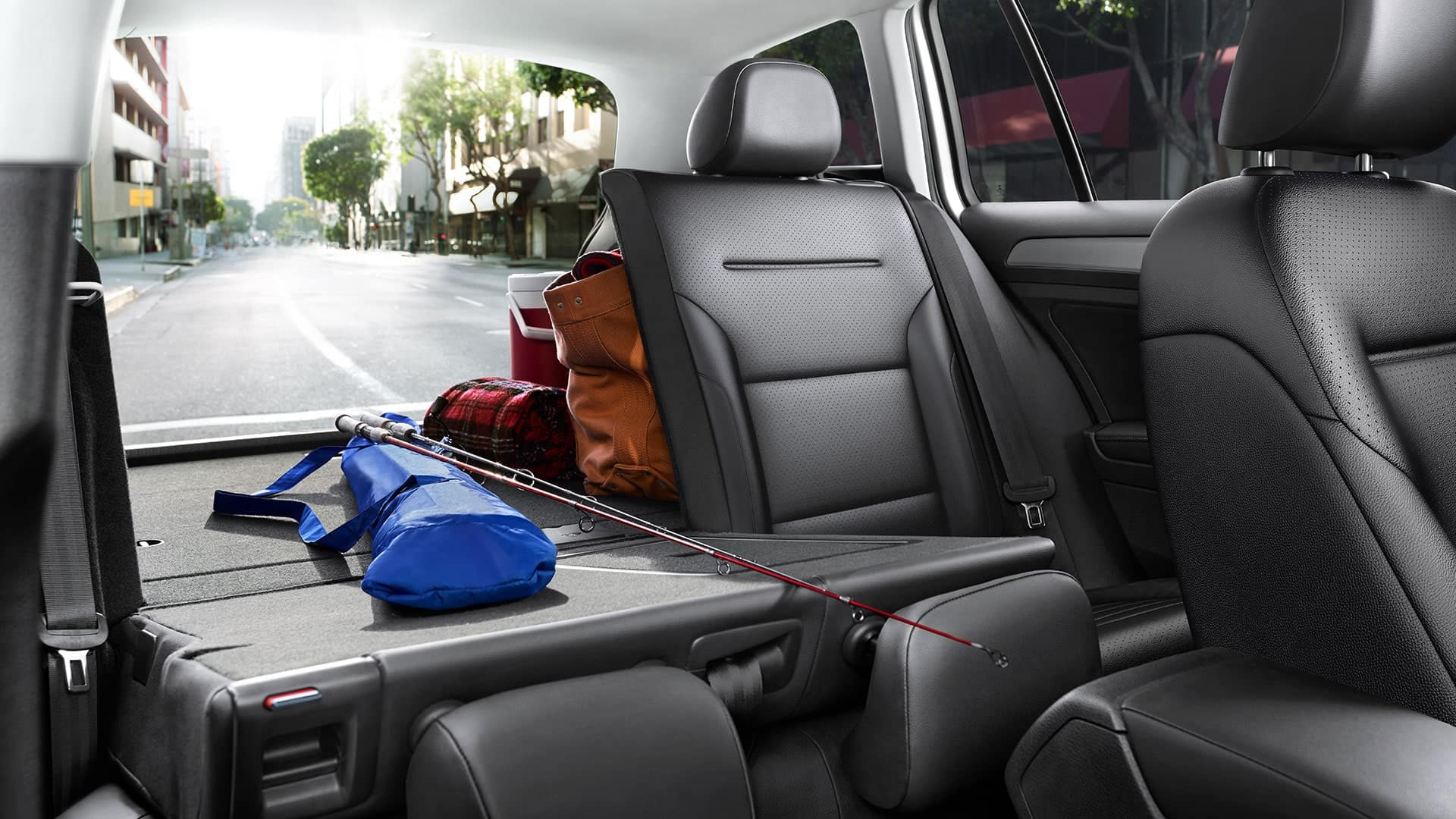 Photo depicting the adjustable cargo capabilities of the VW SportWagen