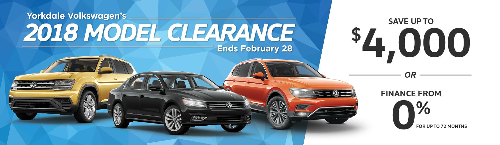 2018 Model Clearance Ends February 28th