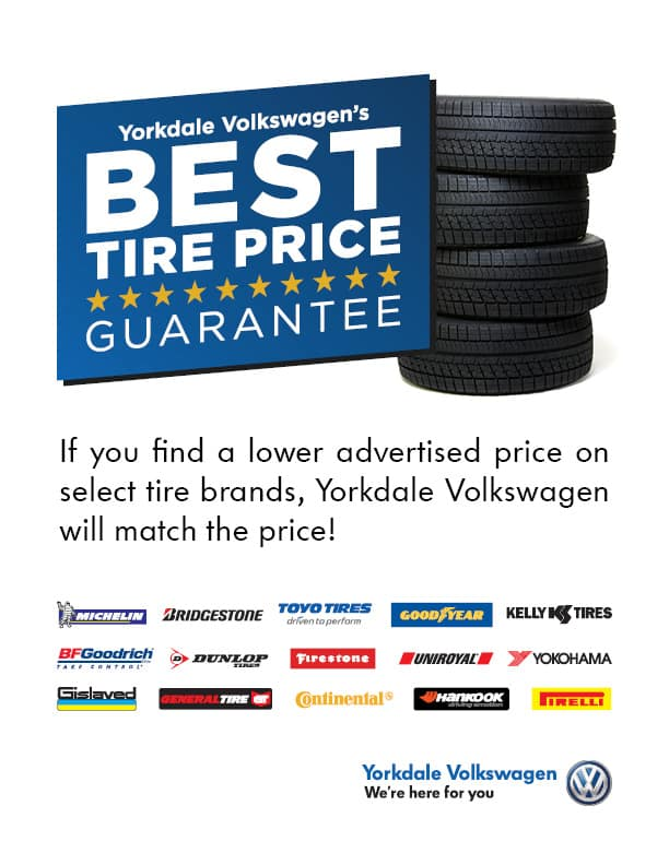 Best Tire Prices >> Best Tire Price Guarantee Yorkdale Volkswagen