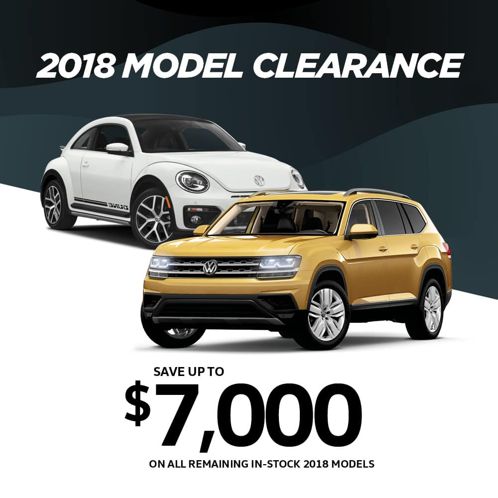 2018 Model Clearance