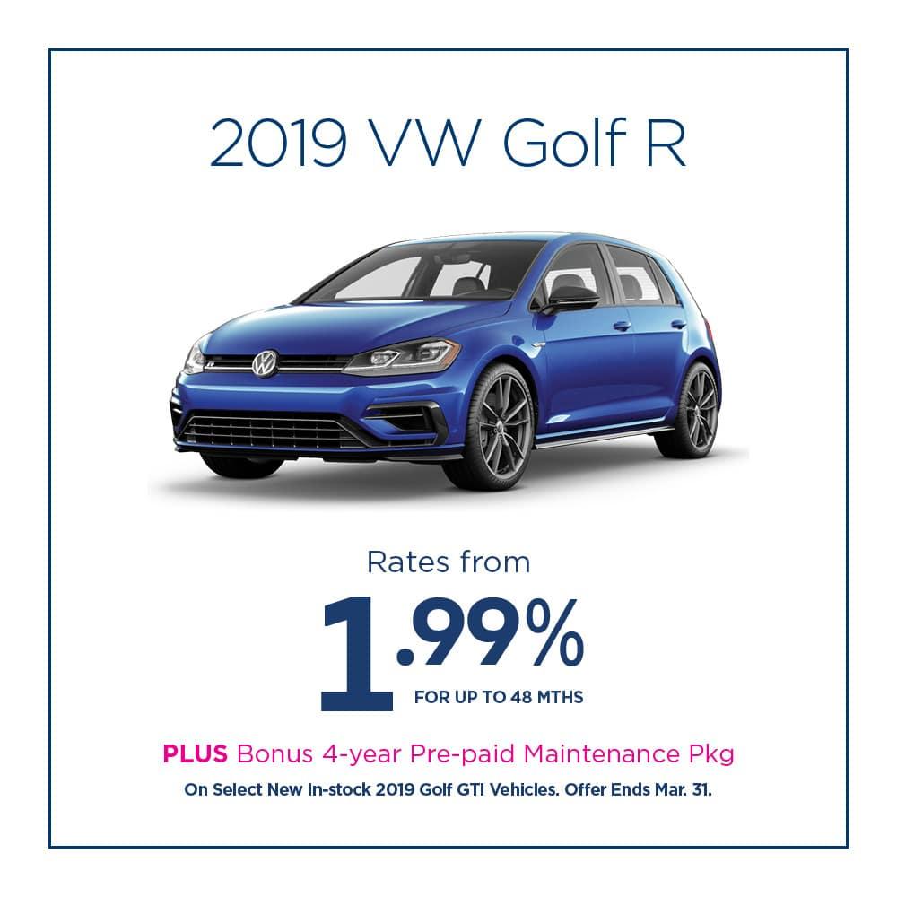 Golf R Offer