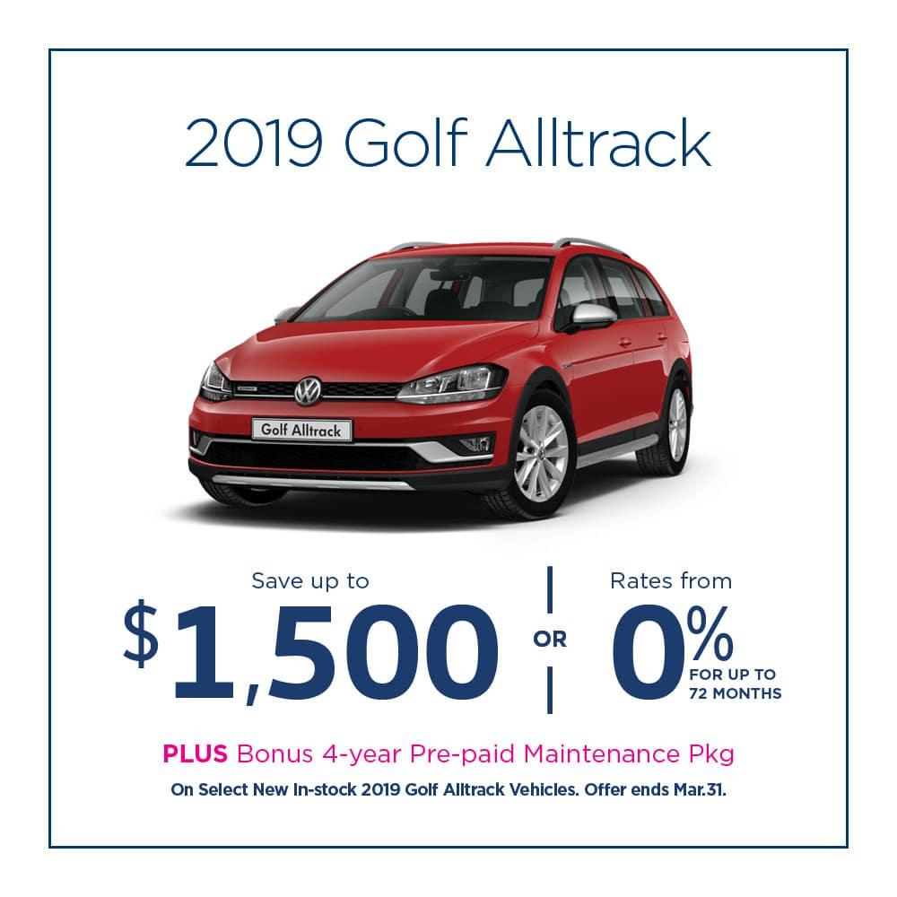 Golf Alltrack Offer