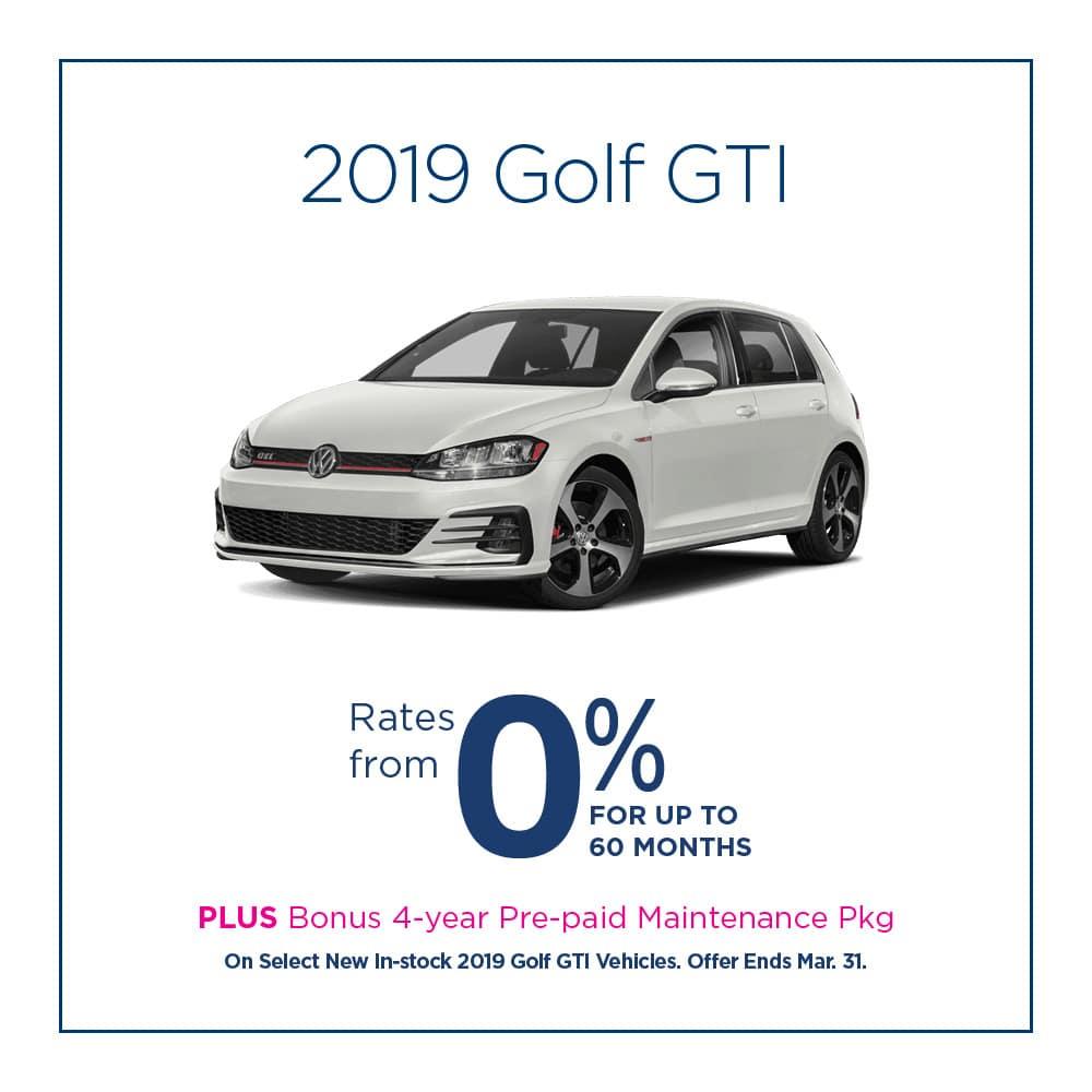 Golf GTI Offer