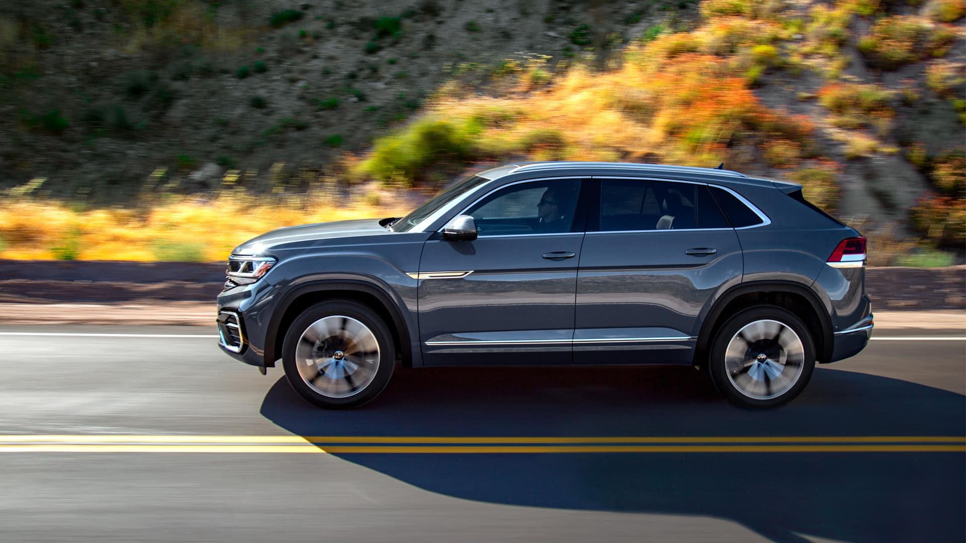VW Atlas driving in the desert