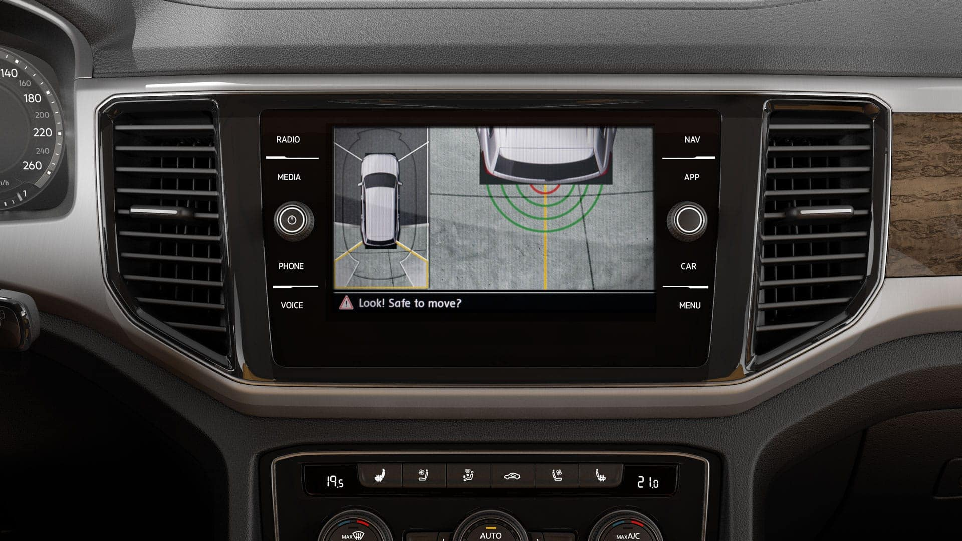 Touchscreen display showing 360 view