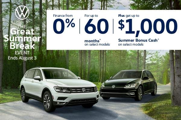 Volkswagen Great Summer Break Event mobile banner